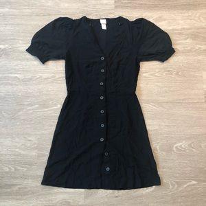 H&M Button Front V-Neck Dress